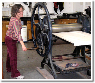 at etching press